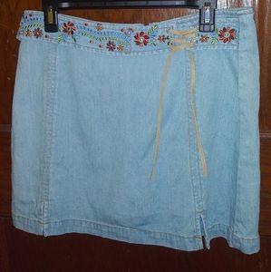 Genuine Sonoma Jean Company Petite Jean Mini Skirt